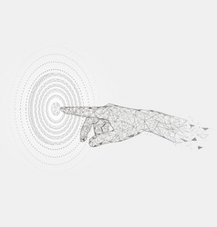 reach target polygonal art style vector image