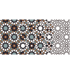 Rich luxury morocco star flower seamless vector