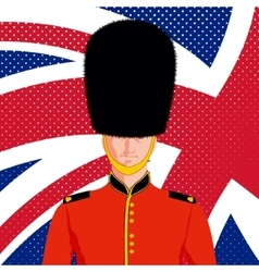 Royal British guard vector image