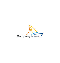 sail yacht colored abstract company logo vector image