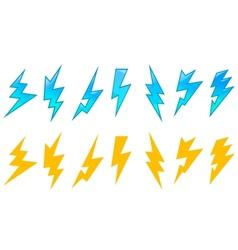 Set lightning icons vector