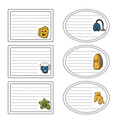 Set of stickers of the cleanup concept vector