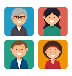 set person education online icon graphic vector image