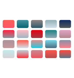 Set red and pink gradient shades combination vector