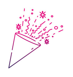 Silhouette party confetty object to celebate event vector