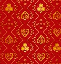 Suits of playing cards seamless pattern vector image