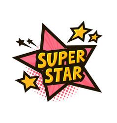 Super star banner or sticker vector