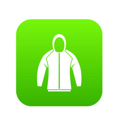 sweatshirt icon digital green vector image
