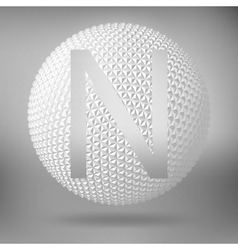 The letter N Polygonal letter Abstract Creative vector image