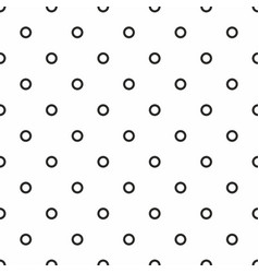 tile pattern with black dots on seamless white vector image