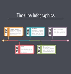 Timeline Infographics Template vector
