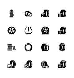 Tires - flat icons vector