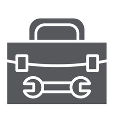 tool box glyph icon repair and maintenance tool vector image