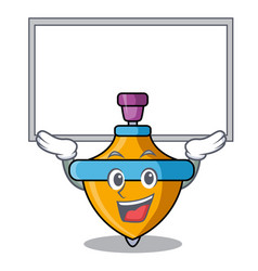 Up board spinning top character cartoon vector
