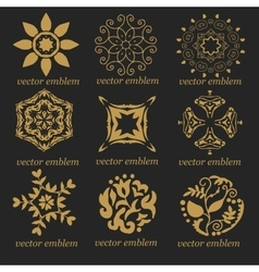 Very high quality set of vintage emblems vector