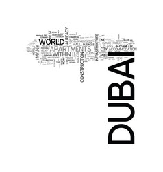 Where is dubai headed from here on text word vector
