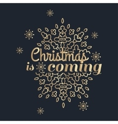 Winter is coming lettering golden congratulations vector