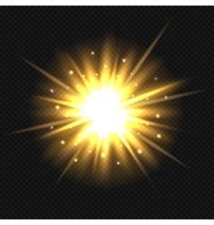 Bright orange explosion vector