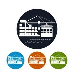 Cargo container ship iconlogistics icon vector image vector image
