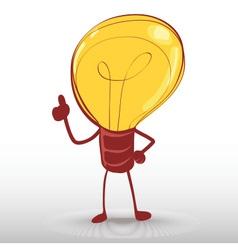 idea light bulb man vector image vector image