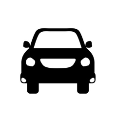 Isolated car vehicle vector image