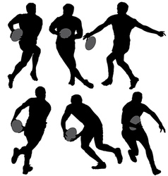 Rugby Silhouette vector image vector image
