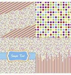 seamless pattern - polka dots set vector image