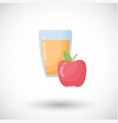 apple juice flat icon vector image vector image