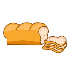 bread loaf vector image