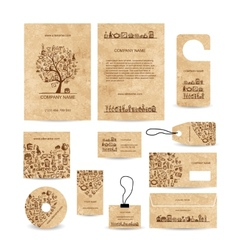 Business cards collection with coffee concept vector image vector image