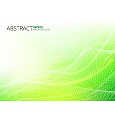 Green Abstract Lines vector image vector image