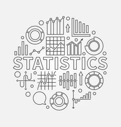 statistics outline vector image vector image