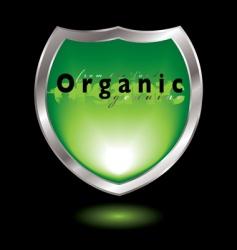 organic shield vector image vector image