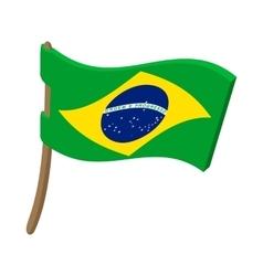 Brazil map icon cartoon style vector image