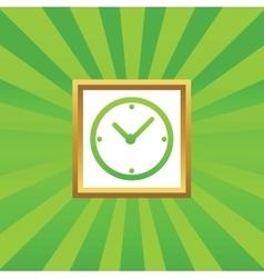 Clock picture icon vector
