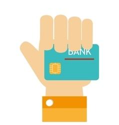 credit card money dollar design vector image