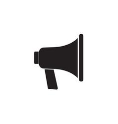 loudspeaker solid icon bullhorn sign megaphone vector image