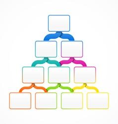 Pyramid hierarchy template vector image vector image