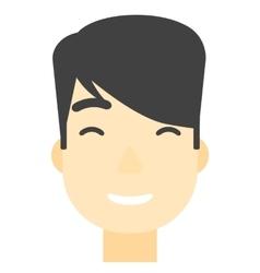 Smiling happy man vector image vector image