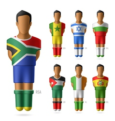 Soccer football players vector image vector image
