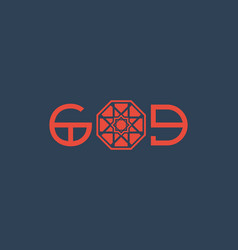 asian religious poster with god title design vector image