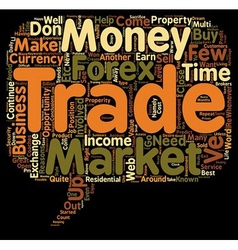 Awesome Reasons to Trade Forex text background vector image
