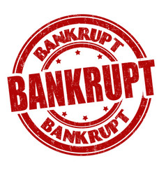 bankrupt sign or stamp vector image