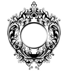 baroque vintage frame decor design element vector image