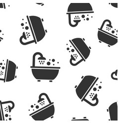 bath shower icon seamless pattern background vector image