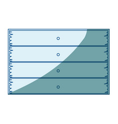 Blue shading silhouette of wooden board with vector