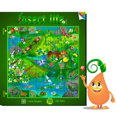 board game insect life vector image