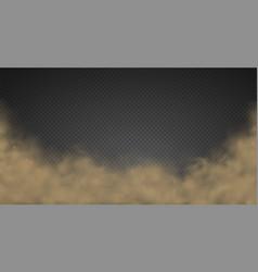 cloud smoke fog road dust urban smog sandstorm vector image