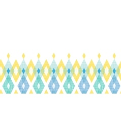 Colorful fabric ikat diamond horizontal seamless vector image