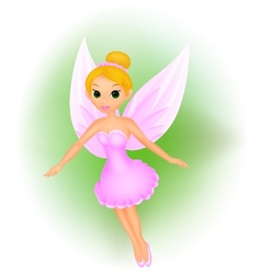 Cute fairy cartoon vector image